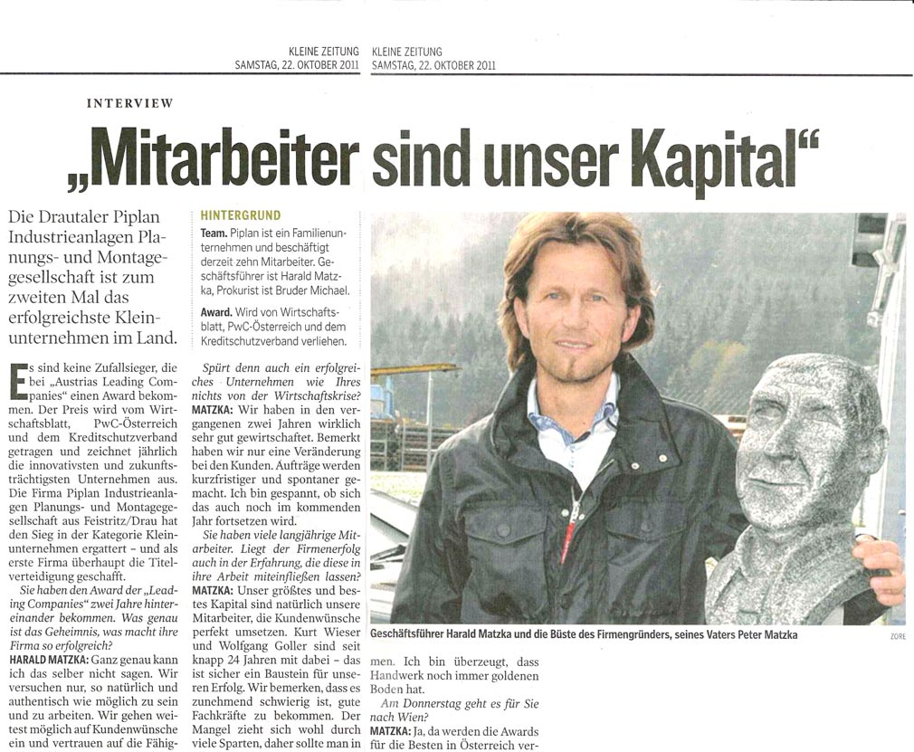 Piplan Vorstellung Austrias Leading Companies